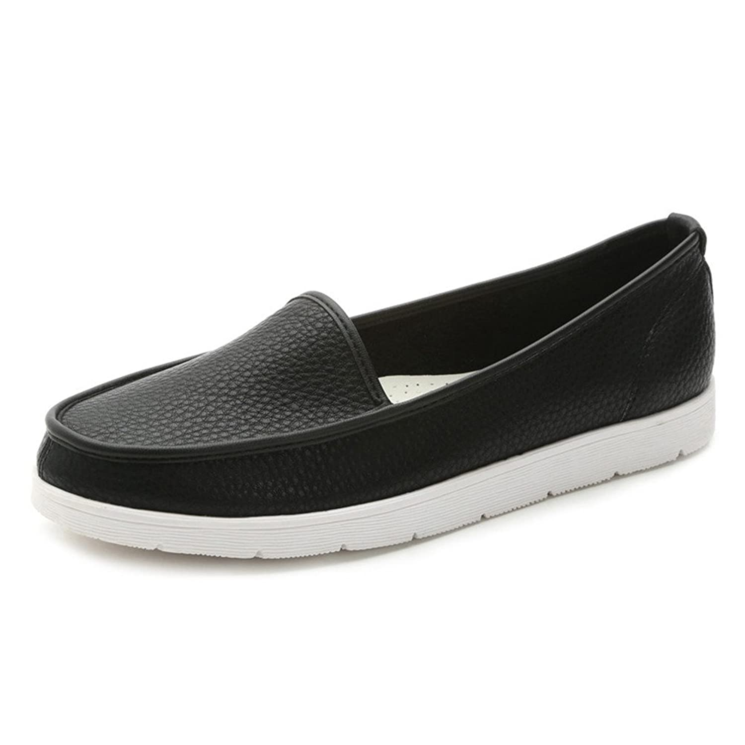 Fonshare Women's Casual Comfor Single Shoes Slip On Loafer Flats