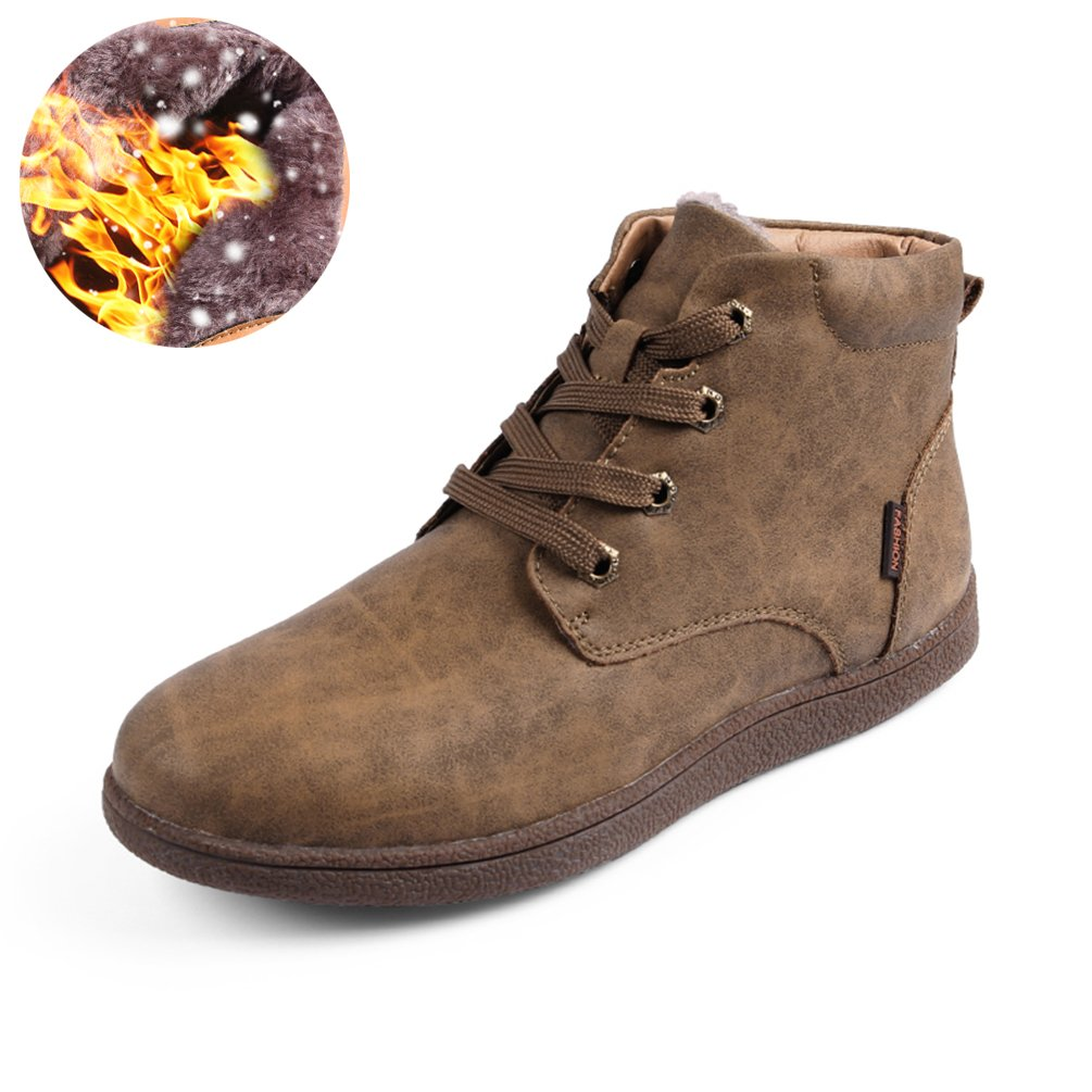 Sherry Love Men's Waterproof Snow Boots Hiking Boot Ankle Chukka Boots Classic Type -Khaki-47 EUR