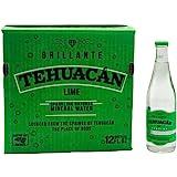 Tehuacan Brillante Agua Mineral Platino Sabor Lima 0.355 L Caja Con 12 Pzas