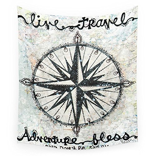 Society6 Live Travel Adventure Bless Wall Tapestry Small: 51