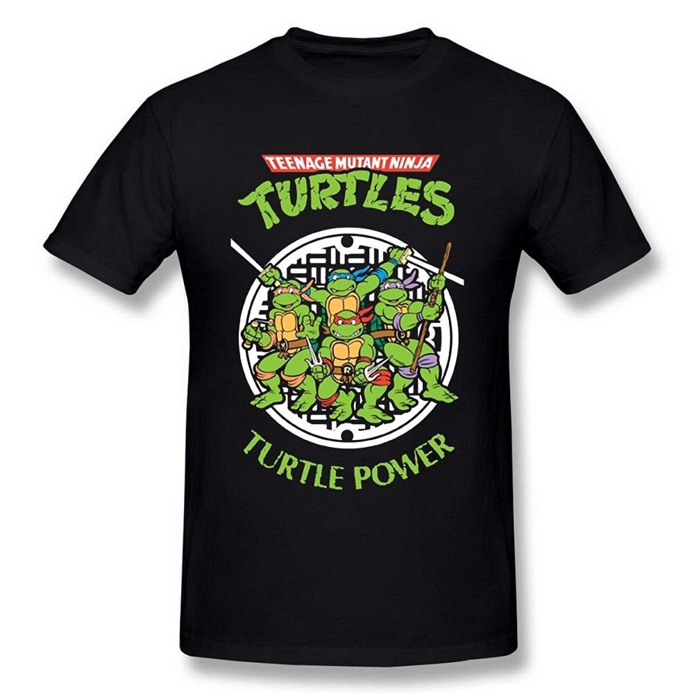 Mens Teenage Mutant Ninja Turtles Logo Black T Shirt Small ...