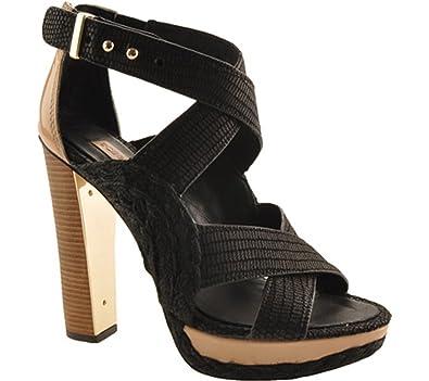 BCBGMAXAZRIA BCBG Max Azria Fritz Women Open Toe Canvas Black Black Size 100