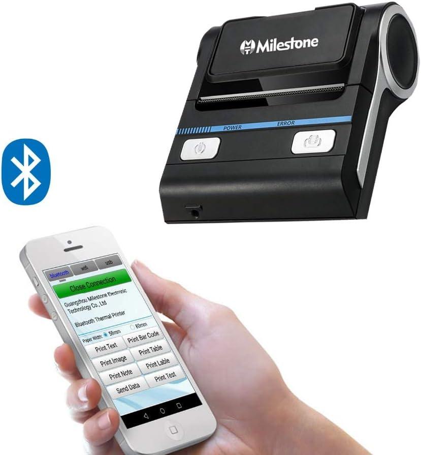 APROTII Stampanti Termici 80mm Ricevuta Portatile Libero APP Mobile USB Bluetooth Stampante per Drugstore POS Stampante