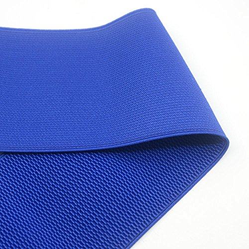 iCraft 4-inch Wide Colored Patterned Waistband Elastic Bands By 2-yard, Royal Blue 73030