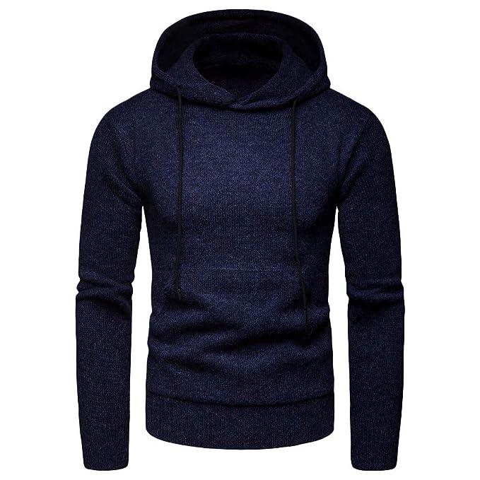 ... Hoodie Sweatshirt de Mangas Largas Camisa de Entrenamiento Casual Hombre Sudadera Deportiva Hombre Sudadera Básica: Amazon.es: Ropa y accesorios