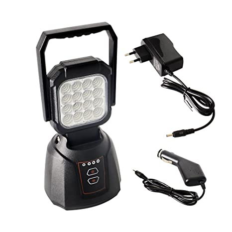 AAIWA Foco LED Proyector 48W 4800LM Lámpara Camping Recargable Luz de Trabajo LED Linterna para Emergencia