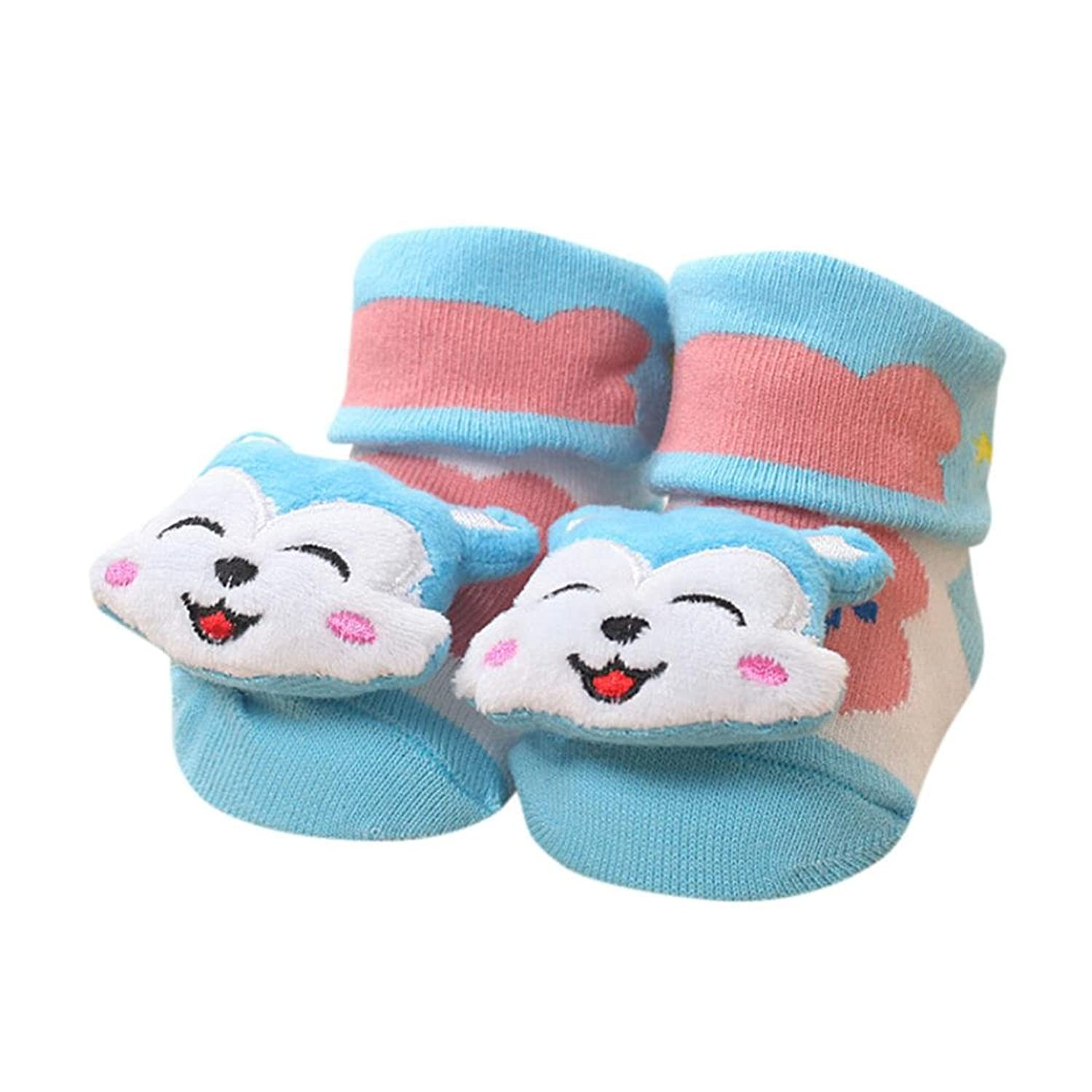Cartoon Newborn Baby Girls Boys Anti-Slip Socks Slipper Bell Shoes Boots