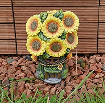 Exceptionnel Garden Mile® Colourful Sunflower Light Up Fairy House Outdoor Garden Solar  Light Up At Dusk