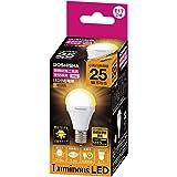 ルミナス LED電球 小型 E17口金 25W 相当 電球色 広配光タイプ 密閉器具・断熱施工器具対応 CM-A25GML