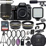 Nikon D7500 20.9 MP DSLR Camera Video Kit with AF-S DX NIKKOR 18-140mm f/3.5-5.6G ED VR Lens + LED Light + 32GB Memory + Filters + Macros + Deluxe Bag + Professional Accessories