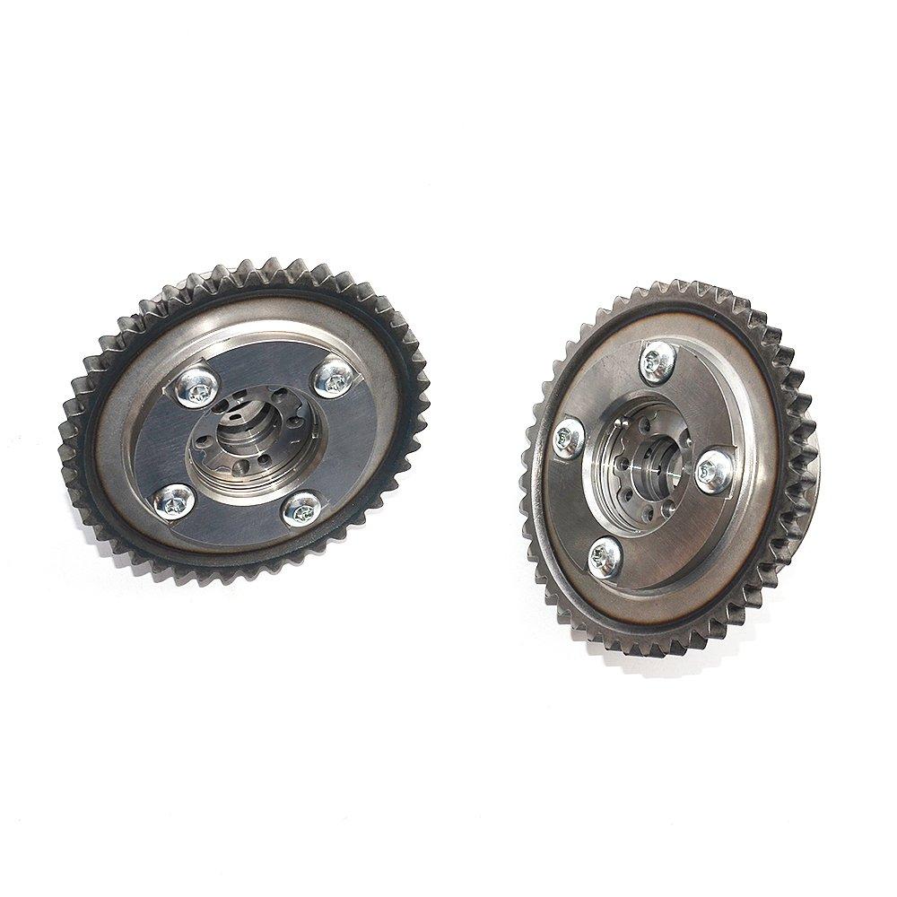 3A+B+FM 2710500911,2710503347,2710503347 Intake /& Exhaust Camshaft Adjuster+Tensioners Kit Compatible For Mercedes C250 E250 SLK250 M271