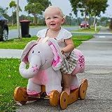 Labebe Christmas Gift for Baby Rocking Horse Plush Animals -- Elephant (Pink)