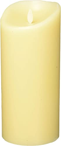 Luminara Flameless Vanilla Scented Moving Flame Candle with Timer 9 Ivory