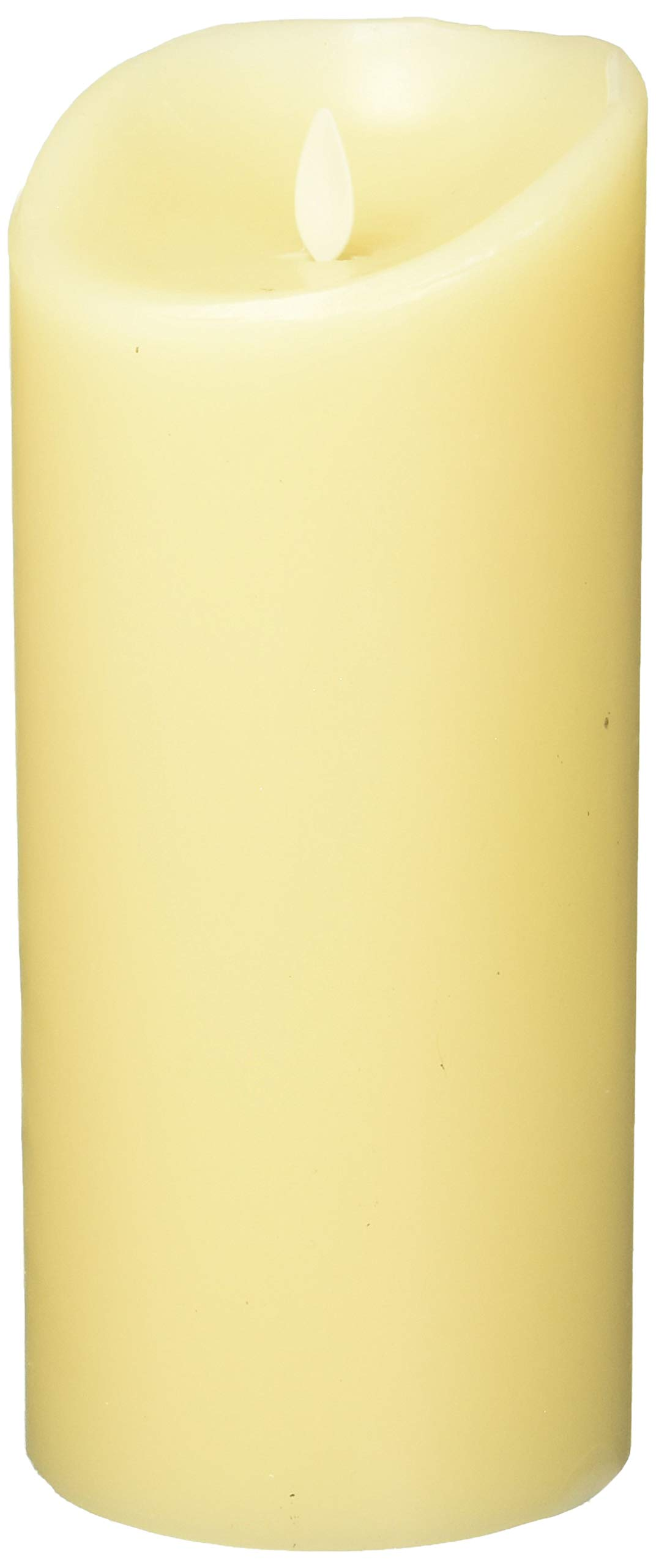 Luminara Flameless Vanilla Scented Moving Flame Candle With Timer (4''x9'' Ivory) by Moonflor