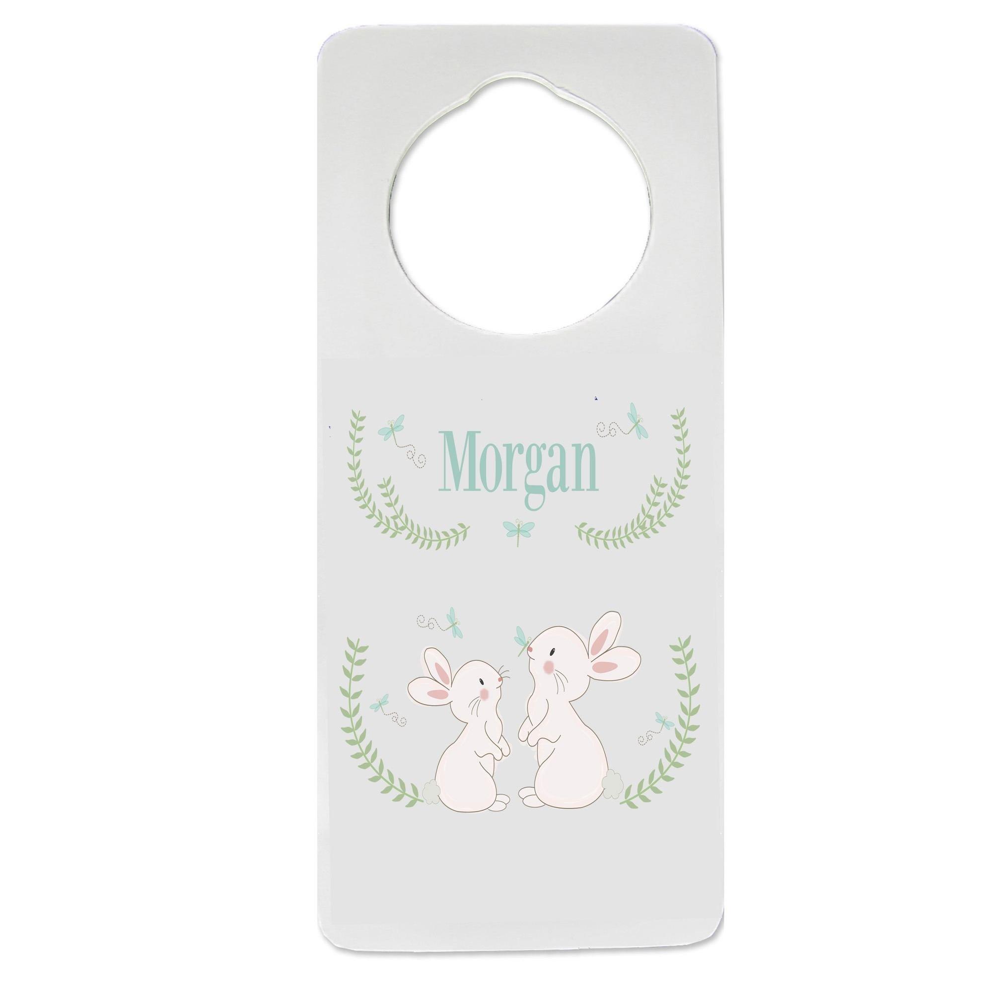 Personalized Classic Bunny Nursery Door Hanger