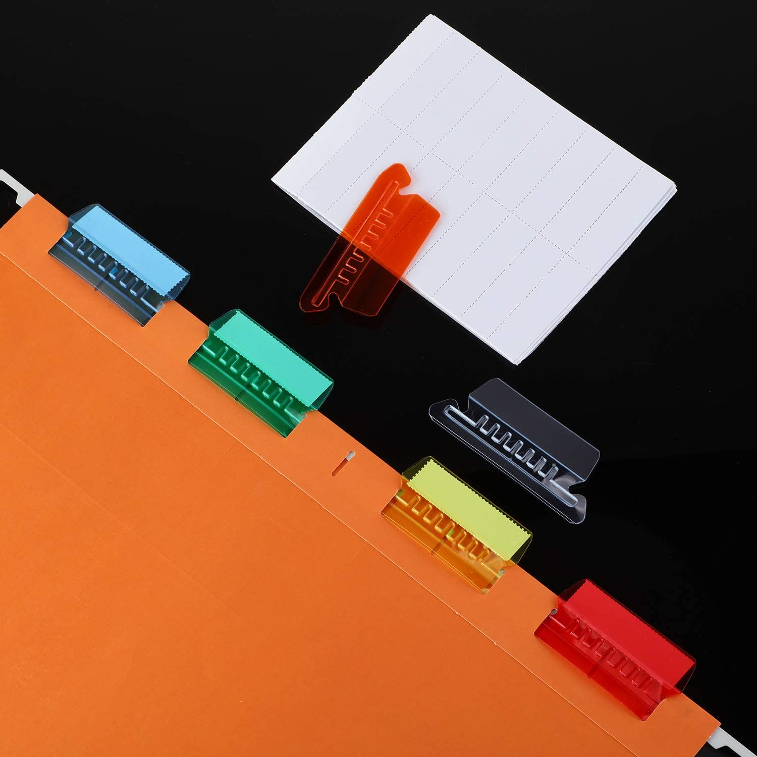 2 to Hanging Folder Tabs and Inserts for Organize and Distinguish Hanging Files