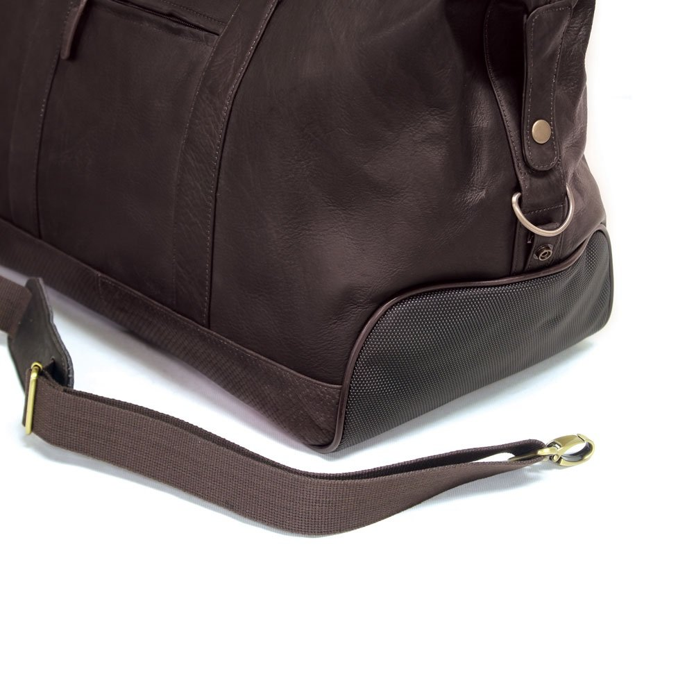 Bellino Eiffel Leather Duffle Brown