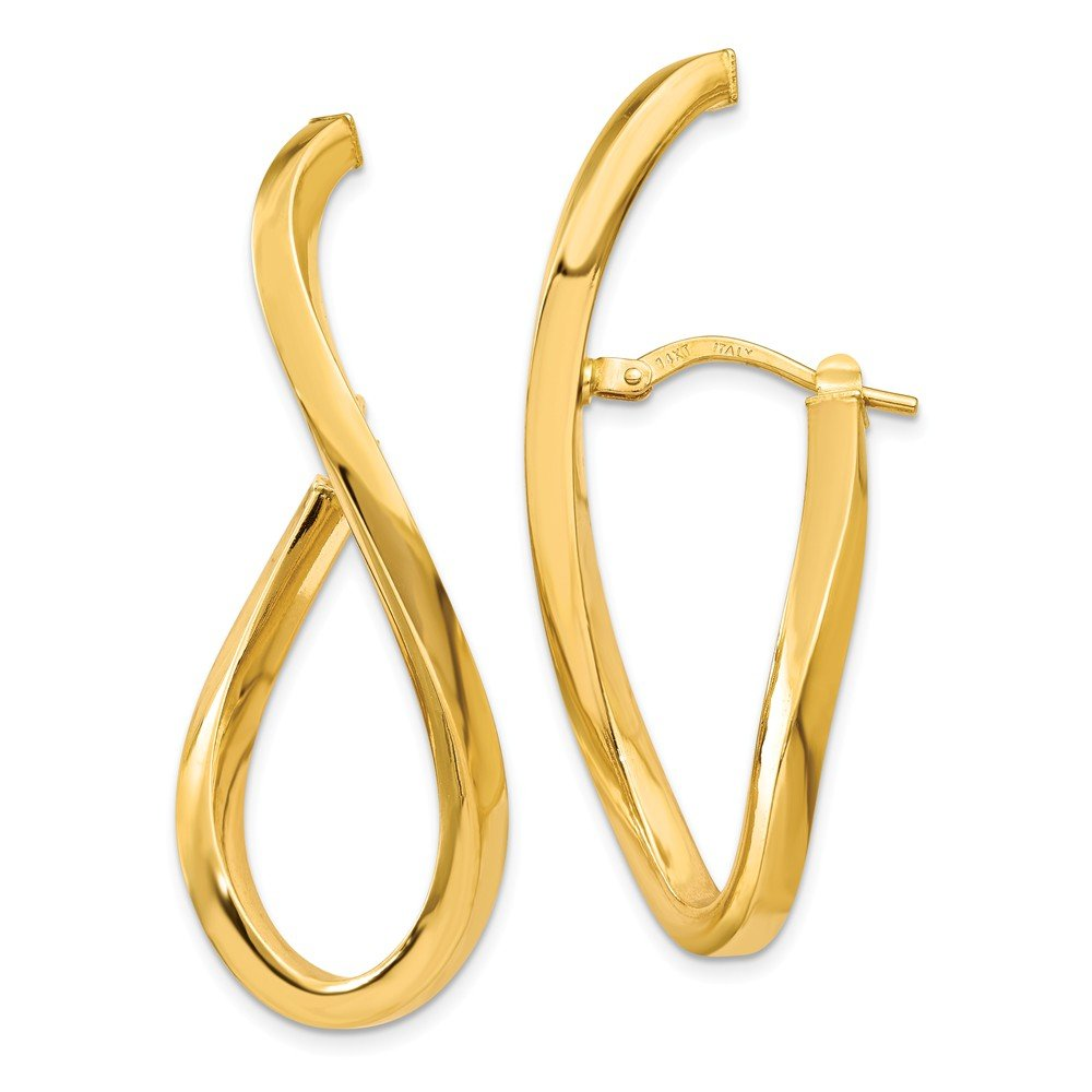 Mia Diamonds 14k Yellow Gold Polished Oval Post Earrings