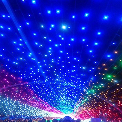 Blue Solar Powered Christmas Lights - 8