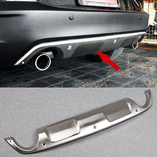 (Fit for Mazda CX-3 2016 2017 2018 2019 Rear Bumper Tailgate Trunk Lid Moulding Guard Trim Stainless Steel)