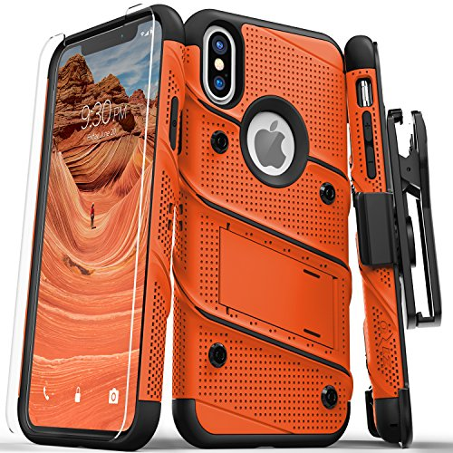 Zizo-Bolt-Series-Compatible-with-iPhone-X-Case-Military-Grade-Drop-Tested-with-Screen-Protector-Kickstand-and-Holster-iPhone-Xs