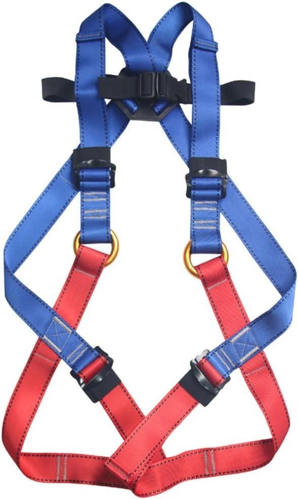 Cuerpo completo arnés de escalada infantil, flores sea9 cinturones de seguridad guía arnés para arnés para escalada montañismo exterior banda ampliar ...