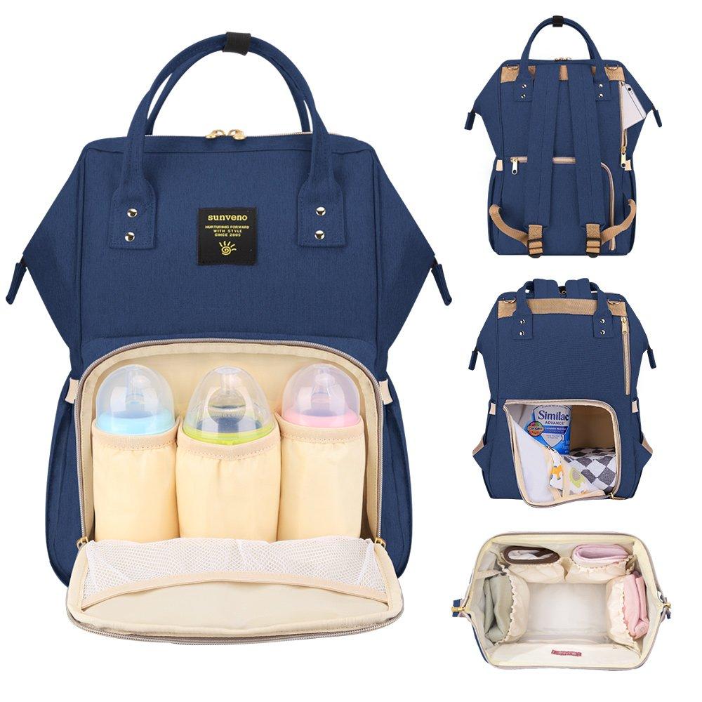 SUNVENO Mummy Backpack Travel Bag Multifunction Baby Diaper Nappy Changing Handbag (Green) NB22179_green