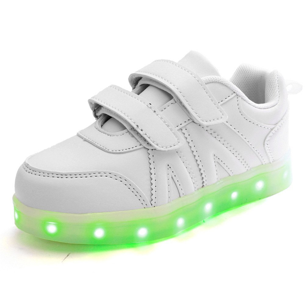 Toddler//Litter Kid//Big Kid FG21ds21g USB Charging LED Light Up Shoes Flashing Sneaker for Kids Boys Girls