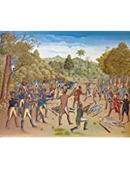 """The Battle Between the Haitians and the English 1789 24""""x30"""""""