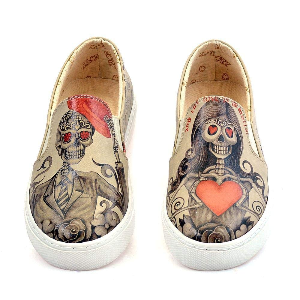 Death is not End of Love Slip on Turnschuhe schuhe VN4034