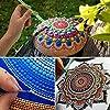 36 PCS Mandala Dotting Tools Stencil Set, Dotting Tools, Brushes and Paint Tray for Painting Rocks Drawing & Drafting, Kids' Crafts, Nail Art, Painting (36 Pack)