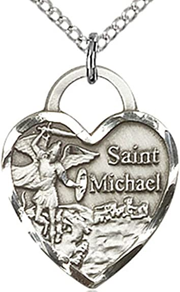 Michael the Archangel Pendant Sterling Silver St 18 Chain