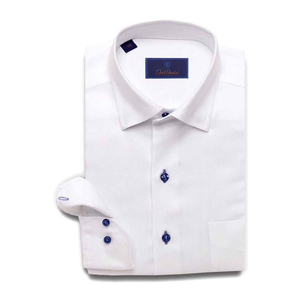 David Donahue Super Fine Meduim Twill Barrel Cuff Sport Shirt XX-Large White