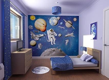 Space Bedroom Wallpaper Amazon Co Uk Kitchen Home