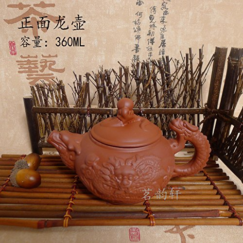 The Sunrise Clay Teapot Purple Grit Tea Set Kung Fu Tea Pot (Red dragon)