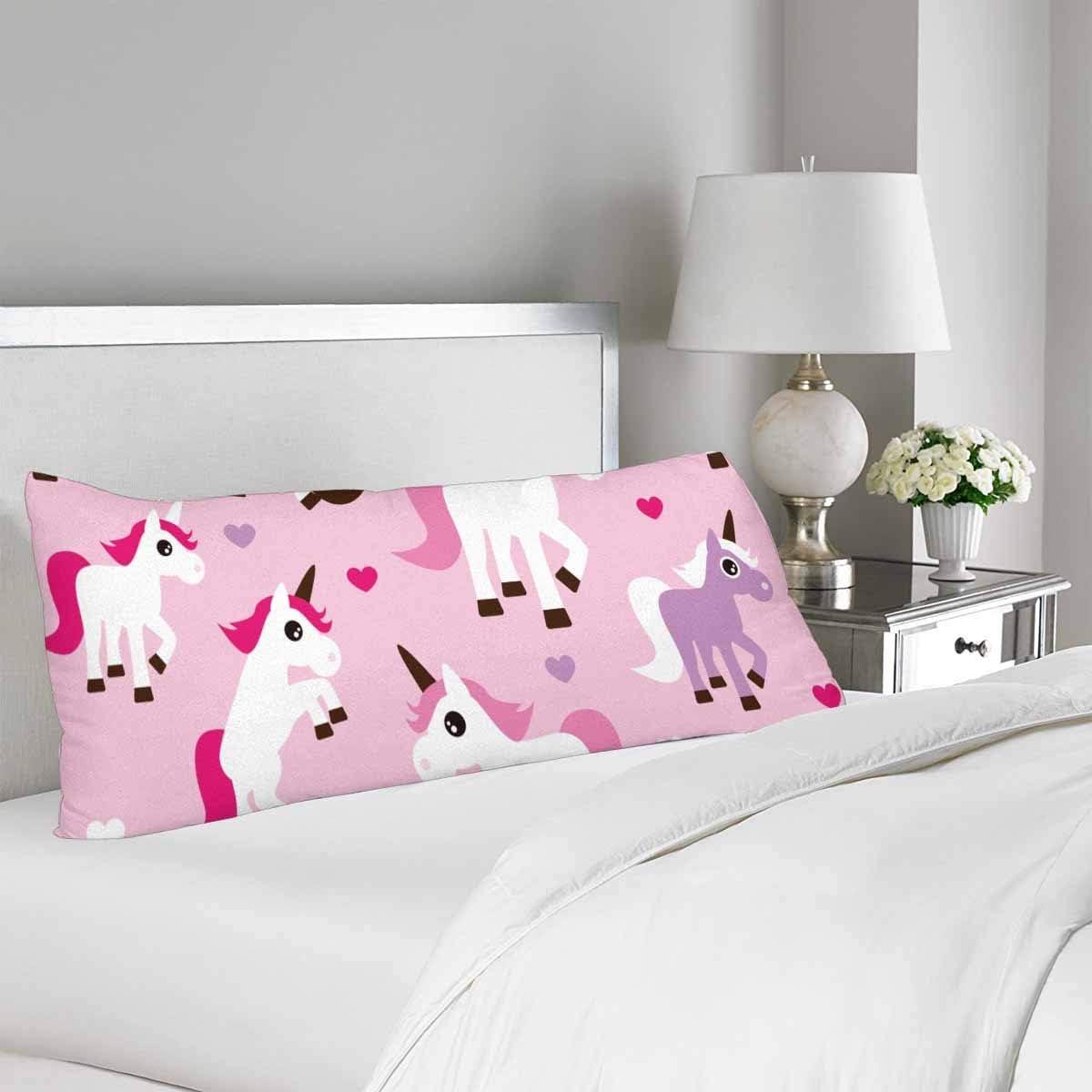 InterestPrint Funny Unicorn Body Pillow
