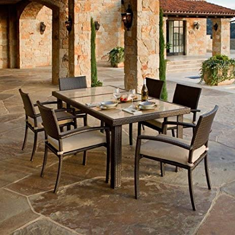 Amazon.com: RST Outdoor Portofino Signature 7 Piece Dining Set ...