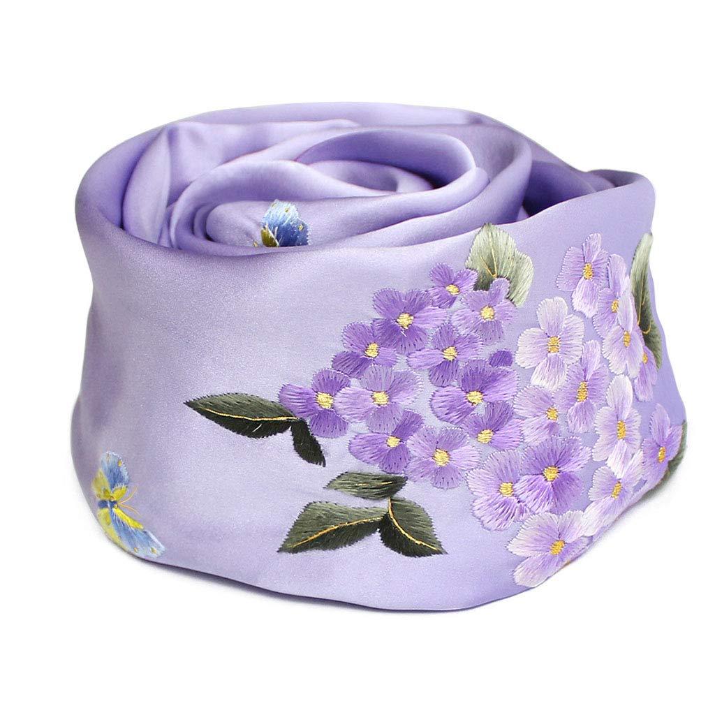 F Stoles Scarf Silk Shawl Scarf Spring and Autumn Winter Shawl Scarf Ladies Silk Embroidery Shawl (color   F, Size   155  35cm)