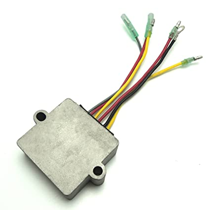 kemimoto mercury 815279t voltage regulator for mercury mariner outboard 12  volt 6 wire 854515, 815279