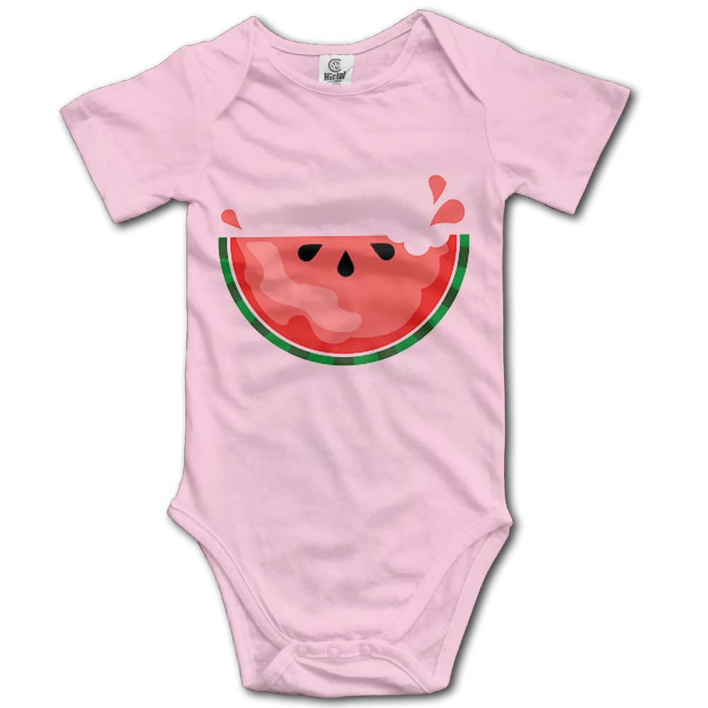 Sweat Watermelon Short-Sleeve Romper Playsuit For 6-24 Months Newborn Baby Size 6 M Pink