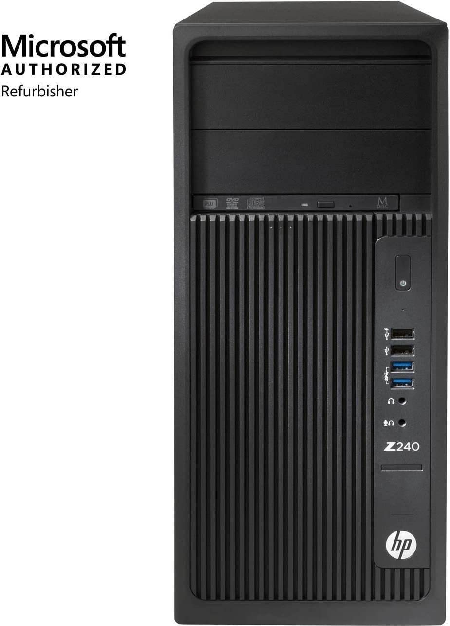 HP Workstation Z240 Tower, Intel Core i7, 16GB RAM, 512GB SSD, Win10 Pro (Renewed)