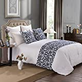 """yazi Luxury Bed Runner Cotton Bedding Scarf Pad Decorative Table Runner Queen Bed Protector Slip Cover for Pets 50x210cm/20x83"""""""