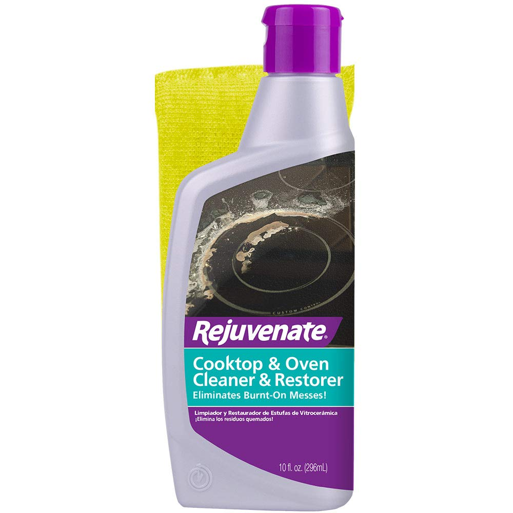 Rejuvenate Glass and Ceramic Cooktop and Oven Cleaner and Restorer – 10 Ounce Oven Cleaner Includes Free Applicator Pad – Eliminates the Worst Burnt-On ...
