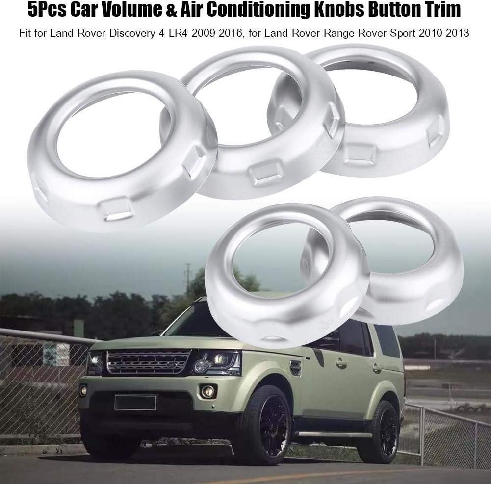 Klimaanlage Knöpfe Trim 5pcs Auto Volume Klimaanlage Knöpfe Knopf Trim Abdeckung Kompatibel Mit Land Rover Discovery 4 Lr4 09 16 Auto