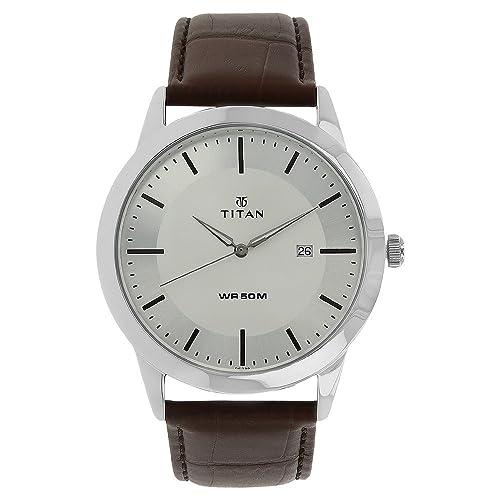 1. Titan Analog Silver Dial Men's Watch