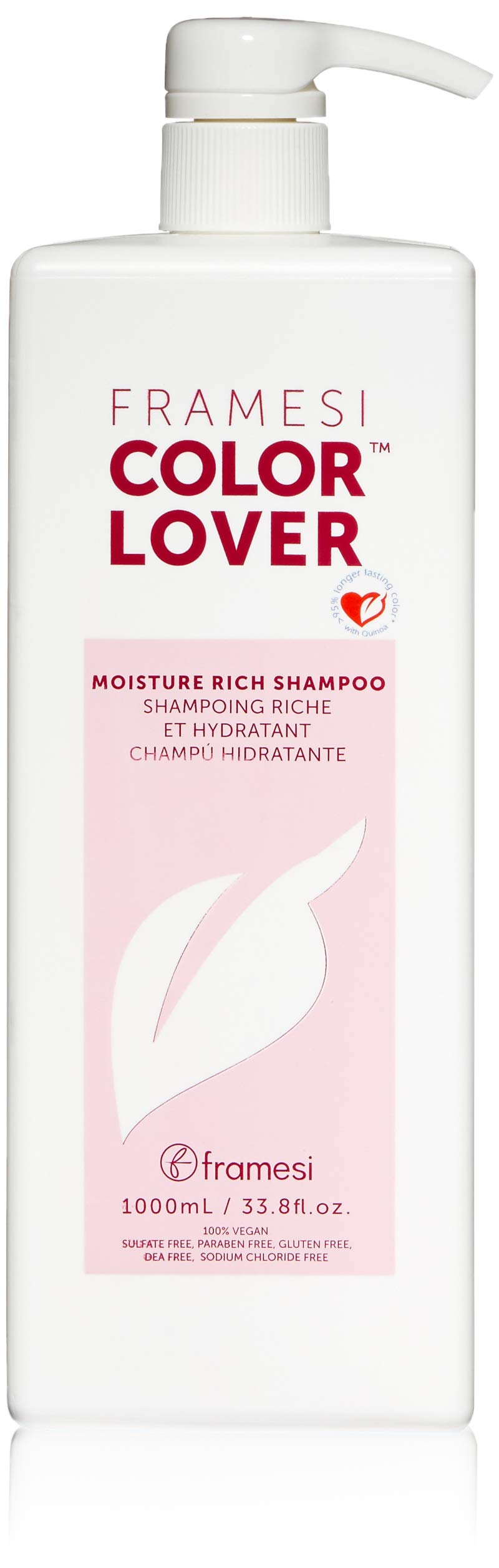 Framesi Color Lover Moisture Rich Shampoo - 33.8 Ounce, Moisturizing Shampoo, Sulfate Free and Color Safe Hydrating Shampoo, Vegan, Gluten Free, Cruelty Free by framesi