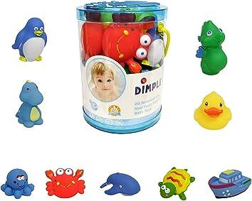 Dimple Bath Toys Set Non-Toxic Floating Sea Animal Bathtub Toy
