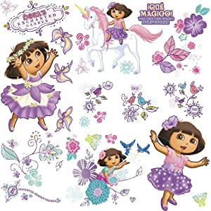 Roommates rmk1667scs nickelodeon dora 39 s enchanted forest for Dora the explorer wall mural