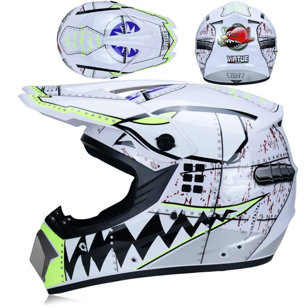 SK-LBB con scooter ATV Downhill MX certificazione D.O.T Casco da motocross per bambini o adulti