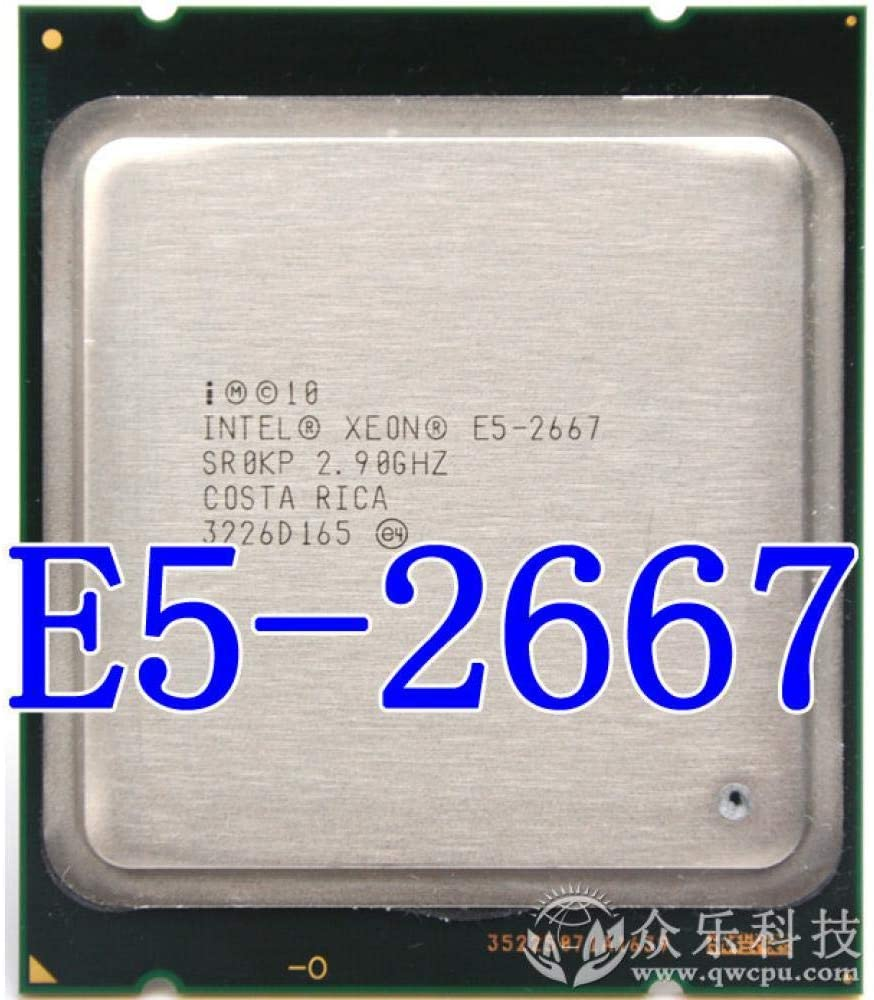 Intel Xeon Processor E5 2667 2.9GHz 6-cores 15M 8GT//s E5-2667 LGA2011 130W Server Processor SR0KP CPU